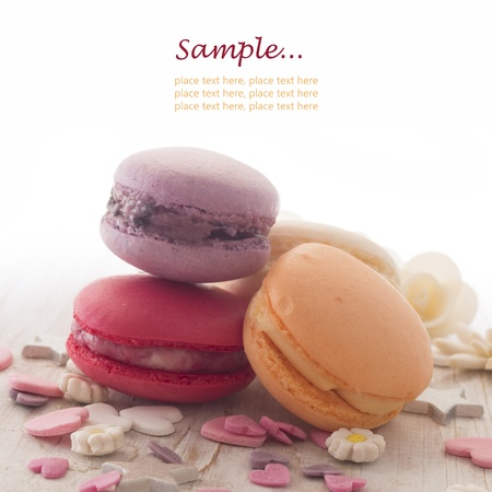 macaroons with place for the text photo
