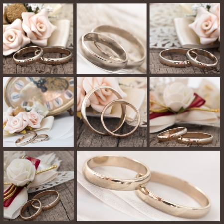 wedding rings collage photo