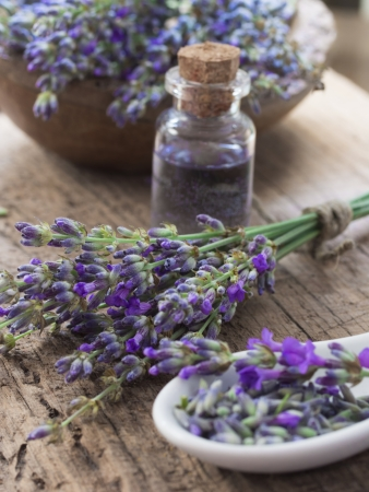 lavender spa setting Stock Photo