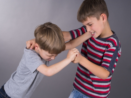 bad temper: fight between brothers