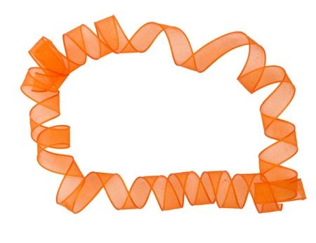 unwind: ribbon surronding copyspace  Stock Photo