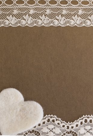 sackcloth: vintage background with lace