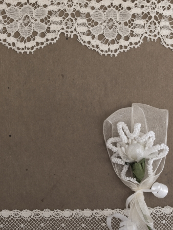 vintage background with lace photo