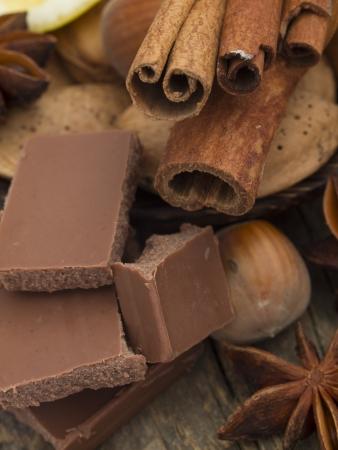 chocolate with cinnamon and anise photo
