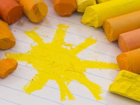 Painted sun, OPTIMISTIC concept