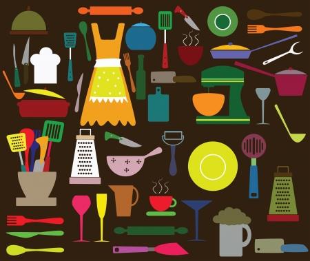 Kitchen utensils Ilustracja