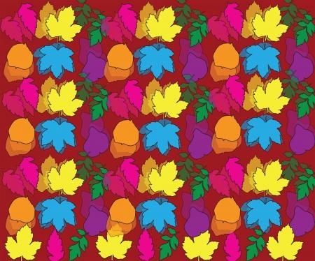 hojas de colores: colorido patr�n de hojas