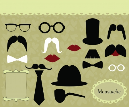 fake mustaches: mustache retro image