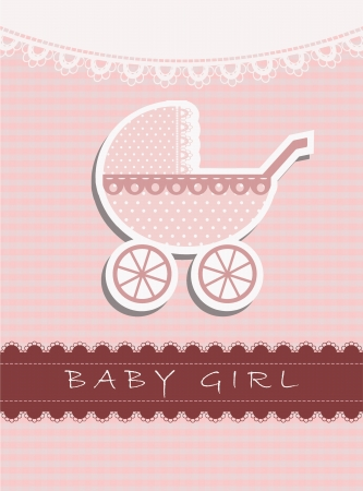 it s a girl: It s a baby girl Illustration