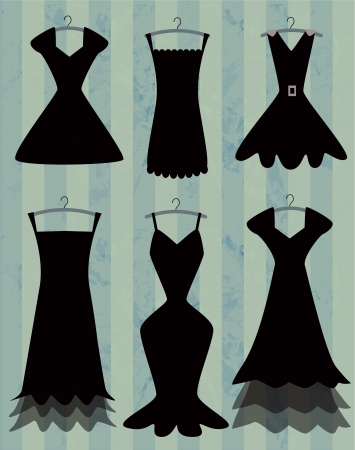 black dresses Vector