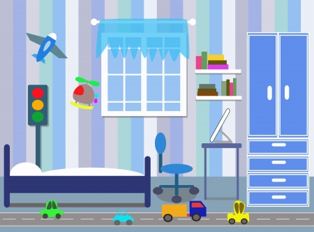 bedroom for children Vector