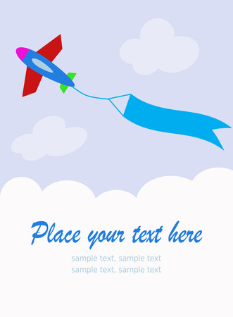 plane with blank sky banner Vector