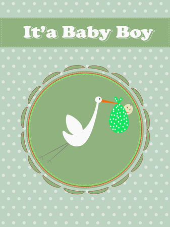 baby boy carry by a bird Vector