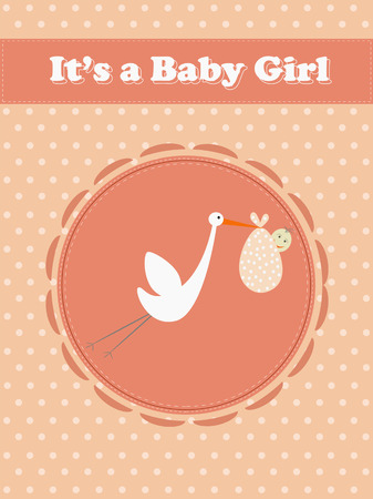 baby girl carry by a bird Vector