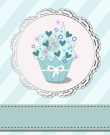 cupcake with designed space Illustration