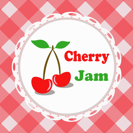 pasteurized: Cherry jam Illustration