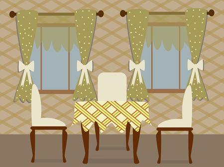 dinning: dinning room Illustration