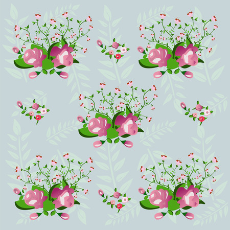 floral background, seamless pattern Vector