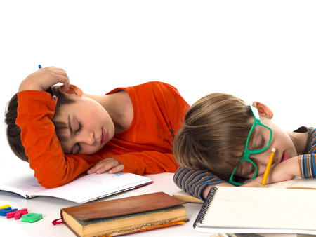 sleeping pupils, boring education photo
