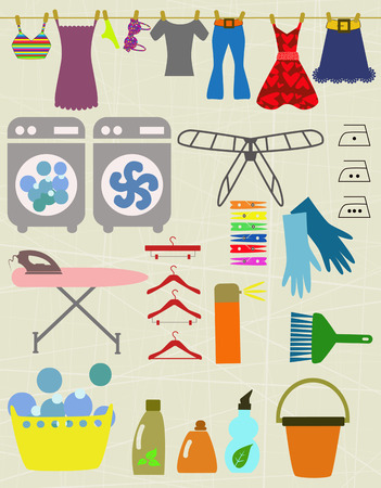 laundry care symbol: laundry items