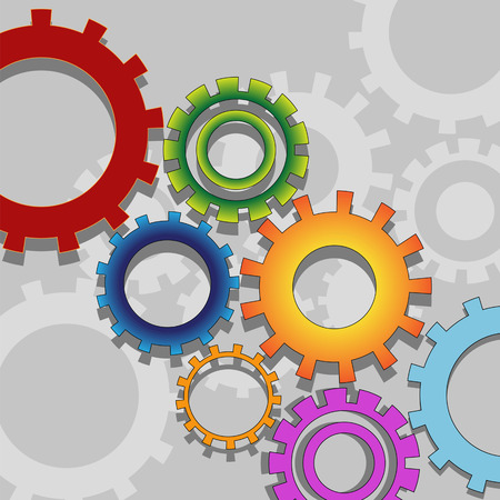 teamwork concept, industrial mechanism Vector