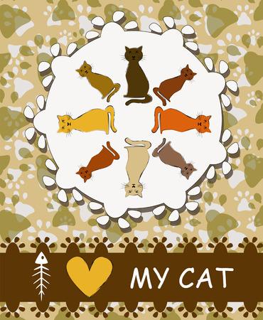 I love my cat Vector