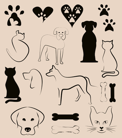 pet background, pet shop elements Vector