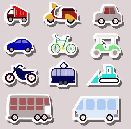 transportation items Vector