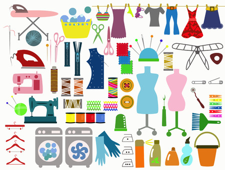 clothing items Vector