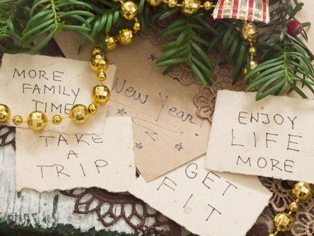 nouvel an: Résolution de nouvelle année Banque d'images