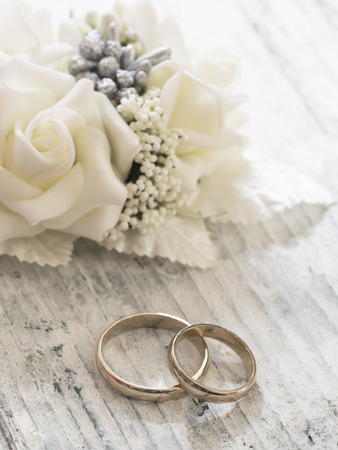 jewelry: wedding rings Stock Photo