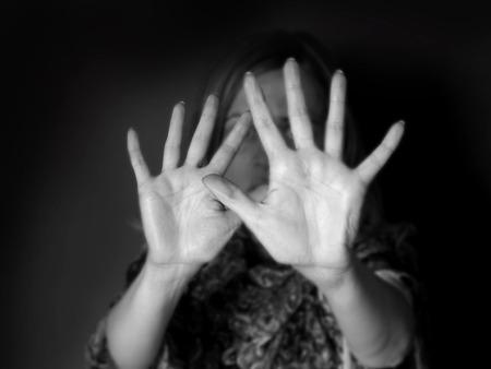 stop abusing women Standard-Bild