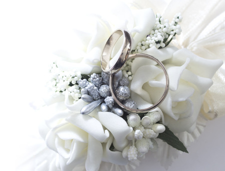 gold ring: wedding rings Stock Photo