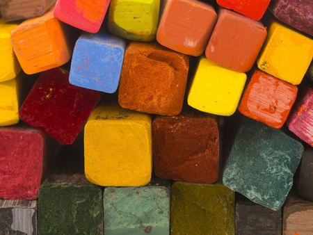 colorful artistic crayons photo