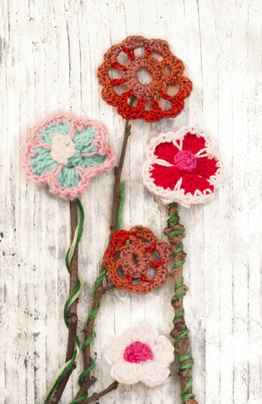 crochet flowers photo