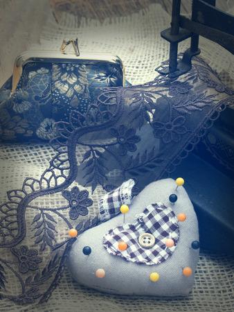 vintage sewing arrangement photo