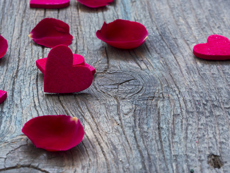 little red hearts, love,