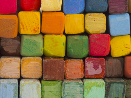 art and craft equipment: colorful crayons