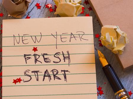 New Year New Start Standard-Bild