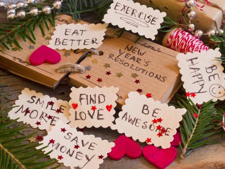 frohes neues jahr: Neujahrsvorsätze Lizenzfreie Bilder
