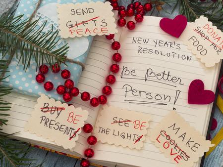 新年の抱負に変換はリストする 写真素材