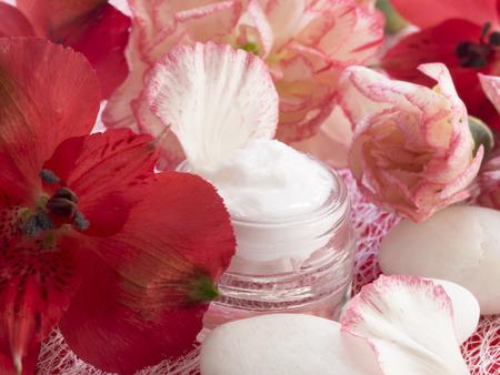 facial cream: facial cream, fresh as flowers