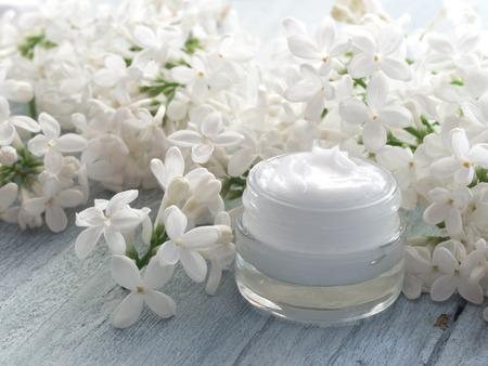 natural cosmetics: natural cosmetics, fresh as spring Stock Photo
