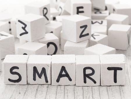 word: smart word Stock Photo