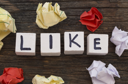 word: LIKE word Stock Photo