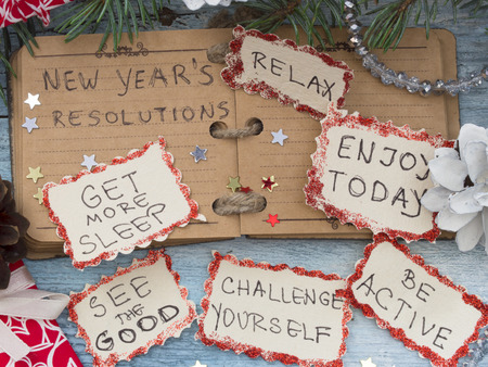 new years resolutions: New Years Resolutions Stock Photo