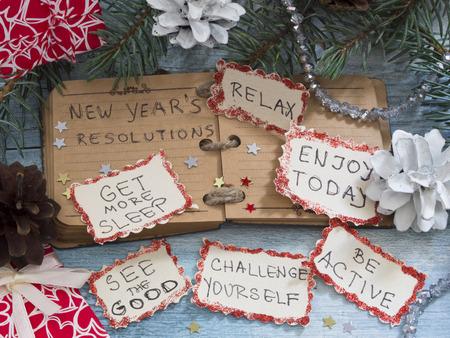 christmas debt: New Years Resolutions Stock Photo