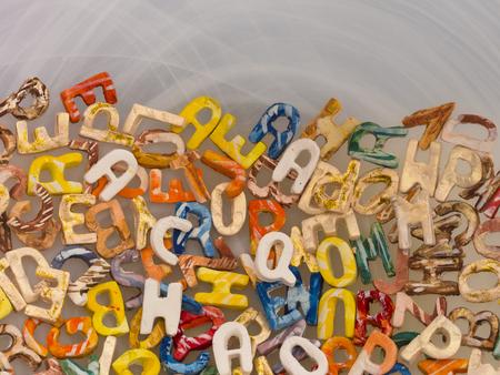 Fondo del alfabeto inglés Foto de archivo - 85490151