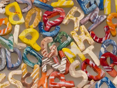 orthography: english alphabet background