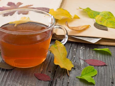 tea for autumn days Stock Photo